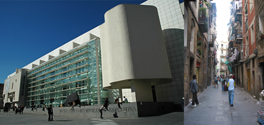 Raval center of arts and street